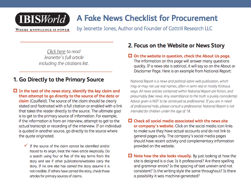 Use This Handy Checklist To Efficiently Evaluate News